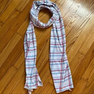 H&M red white blue cotton scarf